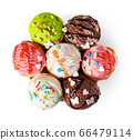 ice cream waffle cone on white background 66479114