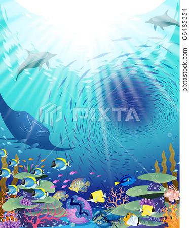 充滿生命的海洋世界 66485354