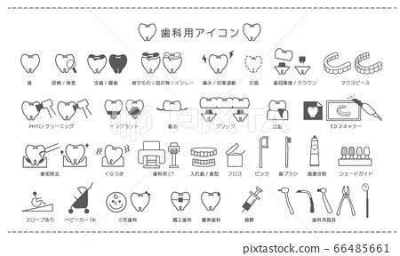 圖標材料_用於牙科診所 66485661
