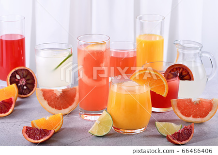 Refreshing Fresh Detox Citrus Juices 66486406