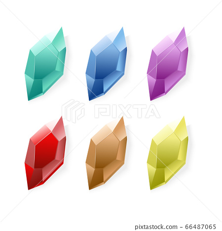 Vector  quart cystal colorful green ,blue, yellow,red,orange  66487065