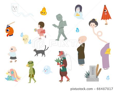 Cute youkai illustration material 66487817