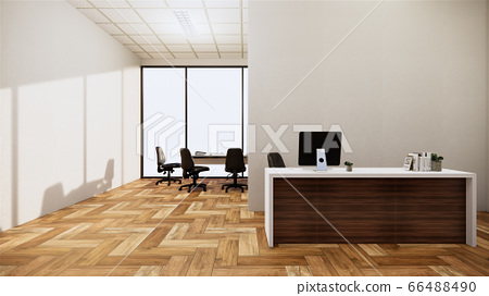 Mock up scene office Desk standing in office. 3d 66488490