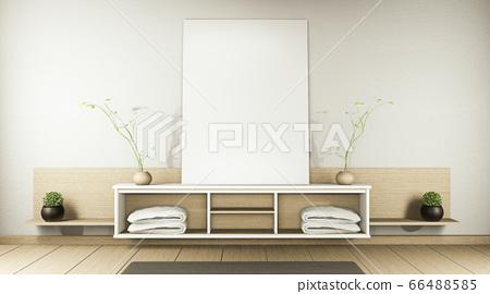 zen modern empty room,minimal design japanese 66488585