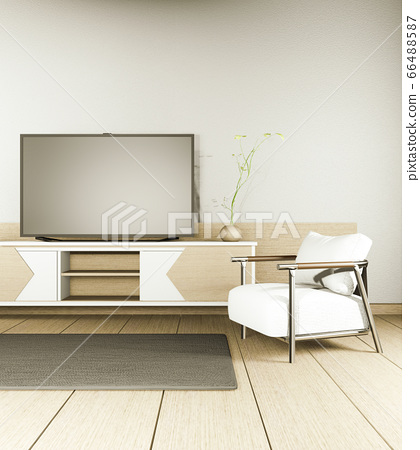 TV cabinet and display japanese interior of living 66488587