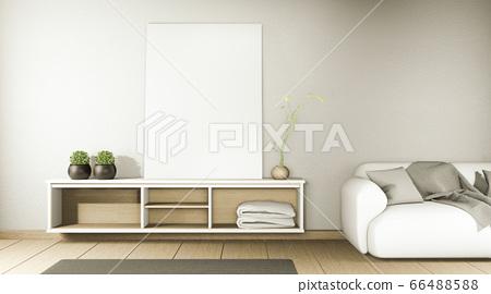 zen modern empty room,minimal design japanese 66488588
