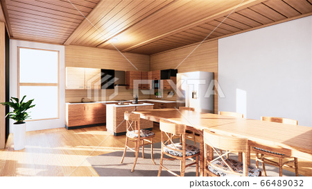 Kitchen room japanese style. 3D rendering 66489032