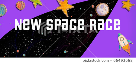 New Space Race theme with a space background 66493668