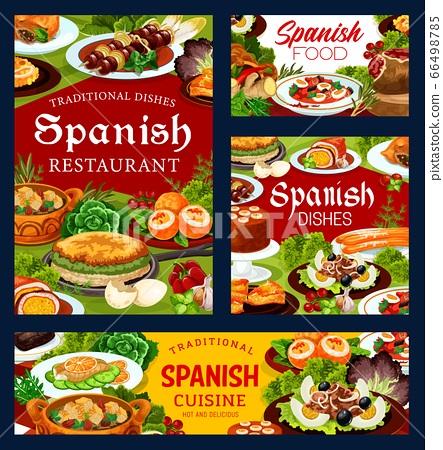 Spanish cuisine food, restaurant dishes 66498785