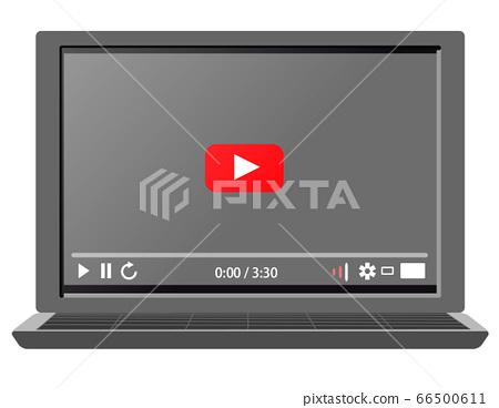 顯示視頻分發站點屏幕的計算機 66500611