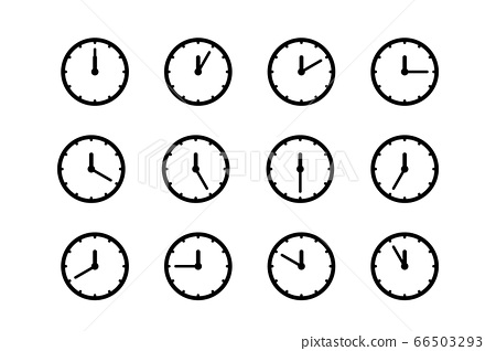 Set of clock icon, isolated icons 66503293