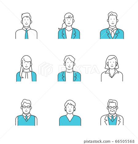 辦公室工作人員/辦公室工作人員圖標素材集 66505568