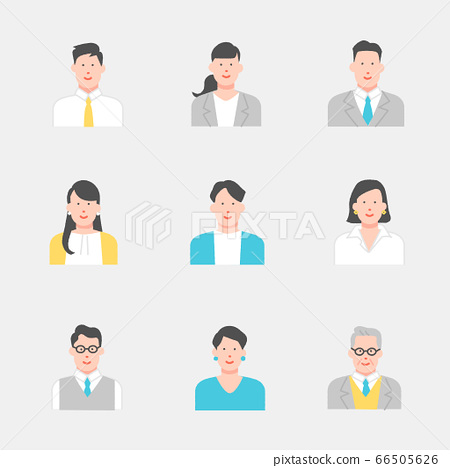 Office worker/office worker icon material set 66505626