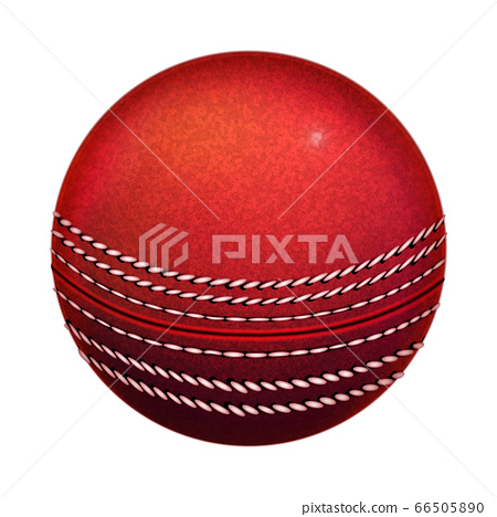 Cricket Playing Ball Sportive Equipment Vector 66505890