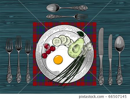 Healthy and delicious Breakfast. 66507145