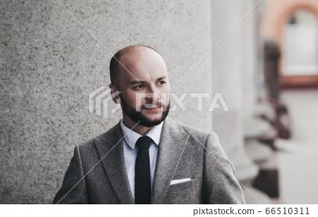successful mature man in a suit 66510311