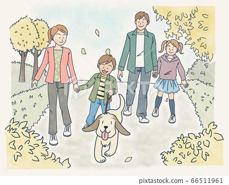 和家人一起散步 66511961