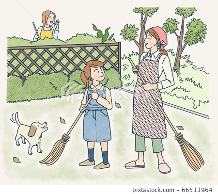 정원 청소 66511964
