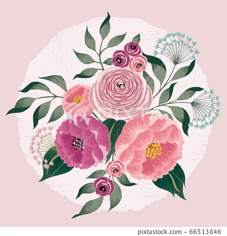 Vector illustration of a floral bouquet in spring 66513846