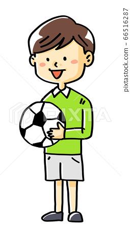 Illustration material soccer boy children 66516287