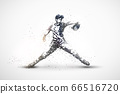 baseball abstract silhouette 2 vector ver. 66516720