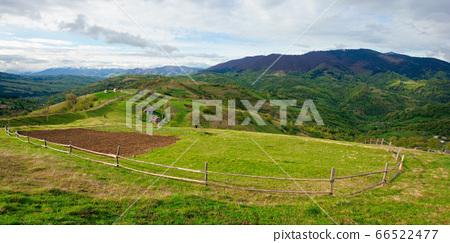 rural fields on mountain hills. beautiful rural 66522477