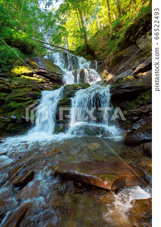 great water fall in the forest. beautiful nature 66522493