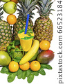 Juice Cup with space for logo with fruit pineapple, banana, Apple, mango, orange, mint, melon 66523184