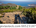top view of the monastery of Sant Pere de Rodes and and shadows of happy tourists 66523187