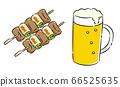 Yakitori beer set icon 66525635