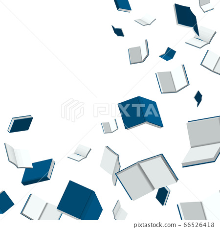 Book media, vector illustration of the sight of navy books falling 66526418