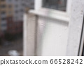 Background mosquito net on the window and view of 66528242