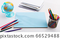 Stationery on white background with copyspace 66529488