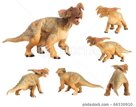 Einiosaurus Dinosaur on white background 66530910