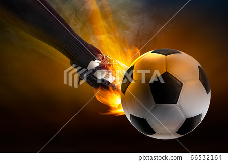Kick the soccer ball 66532164