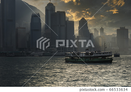 Victoria harbour in Hong Kong 66533634