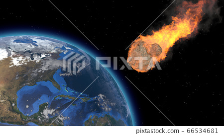 Asteroid Impact on Earth. Asteroid, comet, 66534681