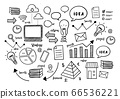 Business financial start up elements doodle hand drawn style black and white 66536221