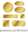 Blank metallic icon set gold color on white 66536223