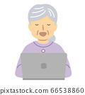 高级女士穿着紫色/手术 66538860