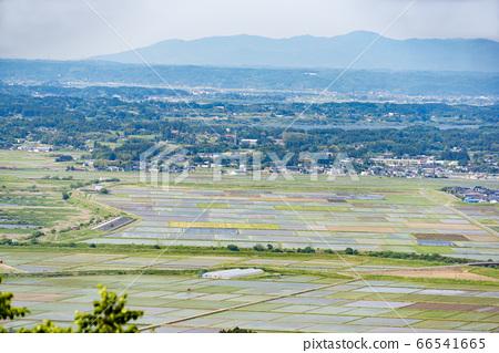 교외의 시골 풍경 66541665
