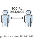 소셜 디스턴스 간단한 일러스트 66543942