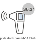비접촉식 체온계 간단한 일러스트 66543946