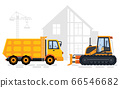 Building and Crane, Construction Area and Machine 66546682