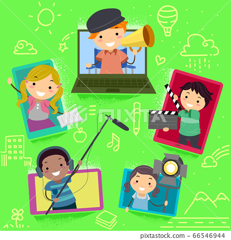 Stickman Kids Media Production Laptop Tablet 66546944