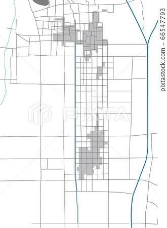 戰國時期(天正時代初期)的京都市(新宿,下京町)地圖 66547793