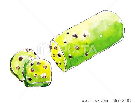 Illustration of matcha pound cake 66548289