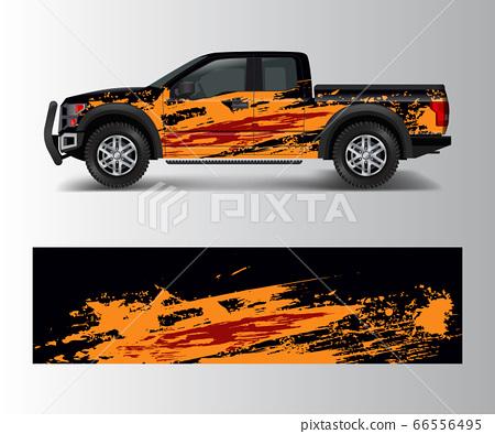 modern design for truck graphics vinyl wrap vector 66556495