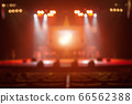 Blurred background of the silhouette concert in 66562388