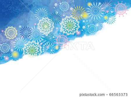 불꽃 놀이 축제 여름 이벤트의 배경 소재 66563373